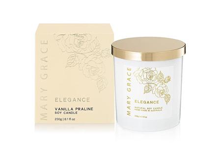Mary Grace Candle Jar Vanilla Praline