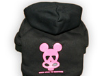 mata vern nuclear radiation dog hoodie in pink