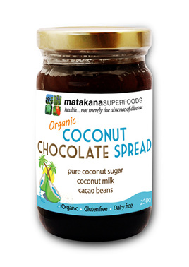 Matakana Superfoods Coconut Chocolate Spread Organic 250g