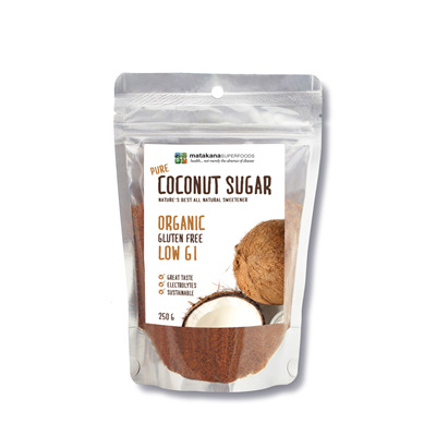 Matakana Superfoods Pure Coconut Sugar 250g pouch