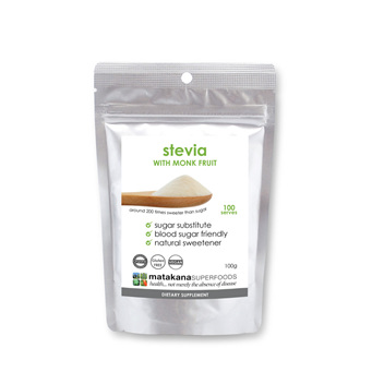 Matakana Superfoods Stevia Natural Sweetener (with Monk Fruit) 100g