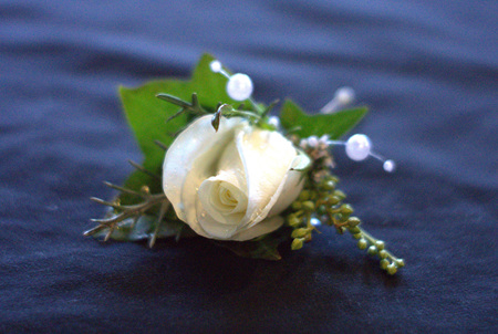 Matching Buttonhole and Corsage Combo
