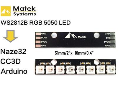 Matek -Addressable LED Strip - WS2812B RGB 5050 LED Board