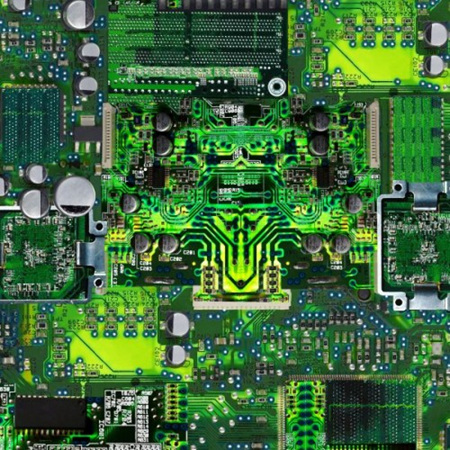 Math and Science Circuit Board Green C8326