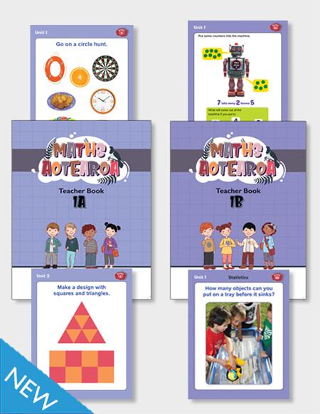 Maths Aotearoa 1a/1b Teacher Books and Activity Cards Packs