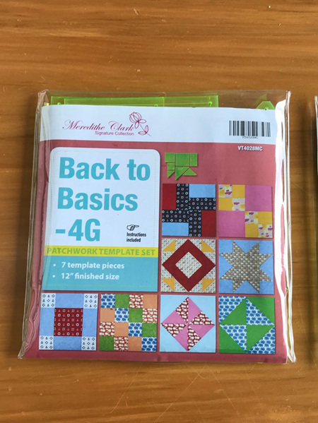 Matilda's own Back to Basics - 4G Patchwork Template Set