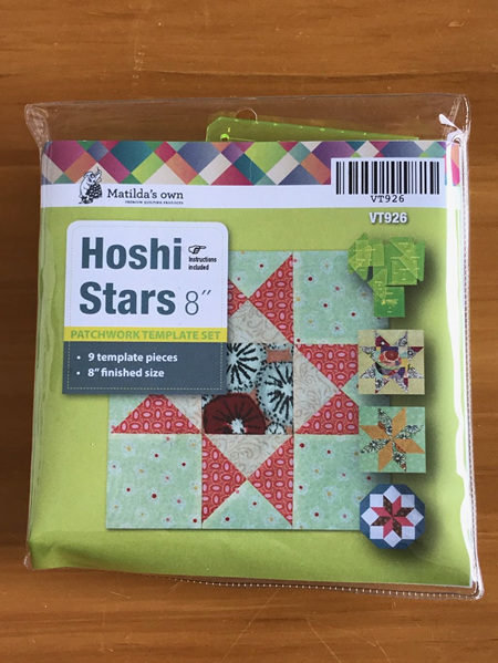 Matilda's own Hoshi Stars Patchwork Template Set