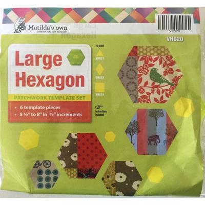 Matilda's Own Large Hexagon Template Set