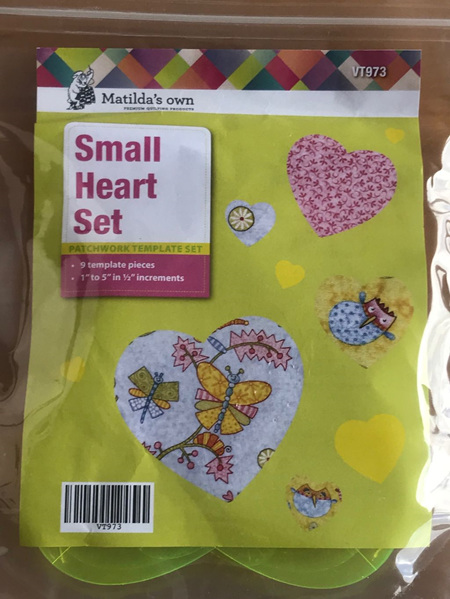 "Matilda's own Small Heart Set (1"" to 5"")"