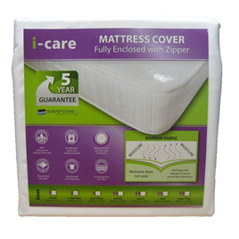 Mattress Cover - (fully enclosed with zip)