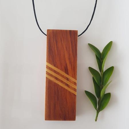 MATURITY - Rimu Pendant with 3 x Kauri Inlays