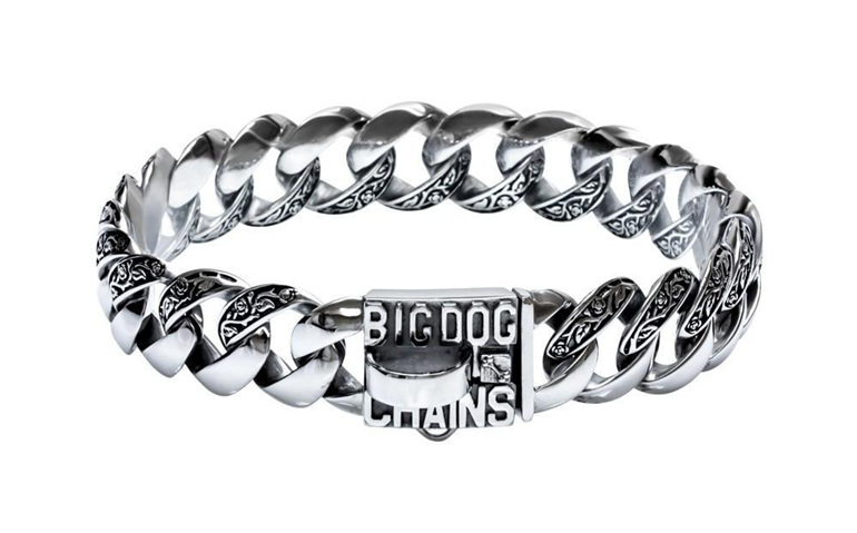 Maui Custom Flower Stainless Steel Dog Collar by Big Dog Chains