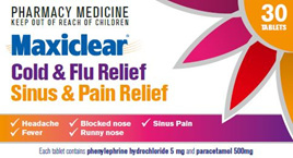 Maxiclear Cold & Flu/Sinus & Pain Relief 30s