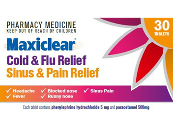 Maxiclear Cold  FluSinus  Pain Relief 30s