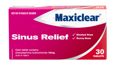Maxiclear Sinus Relief 30s