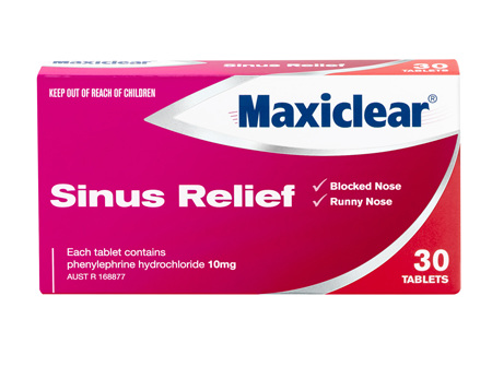 MAXICLEAR SINUS RELIEF TABS 30
