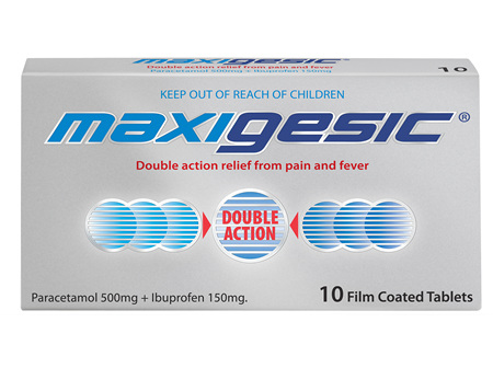 Maxigesic Double Action Pain Relief  Tablets 10s