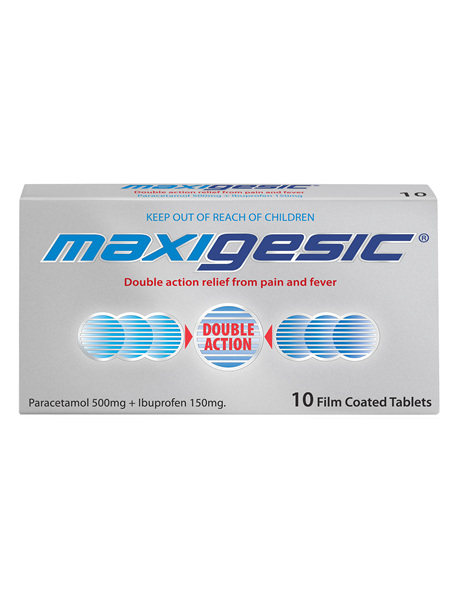 Maxigesic®  Double Action Pain Relief  Tablets 10s