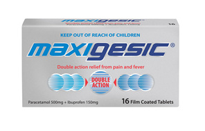 Maxigesic Double Action Pain Relief Tablets 16s