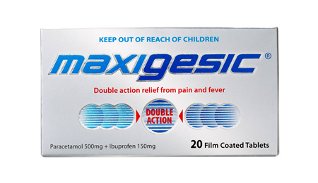 Maxigesic Double Action Pain Relief Tablets 20