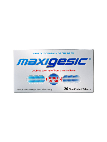 Maxigesic®  Double Action Pain Relief Tablets 20