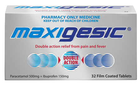 Maxigesic Double Action Pain Relief Tablets 32s