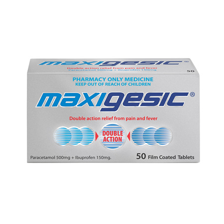 Maxigesic Double Action Pain Relief Tablets 50s