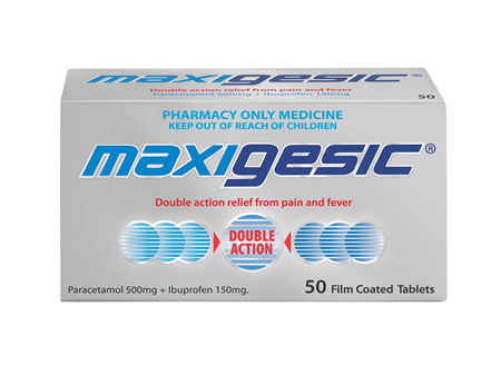 Maxigesic®  Double Action Pain Relief Tablets 50s