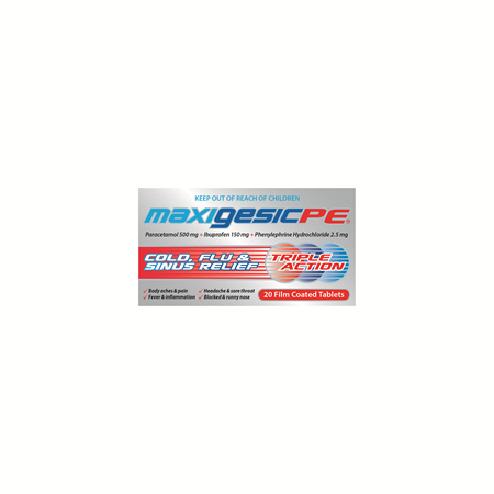 Maxigesic®  PE Tabs 20s