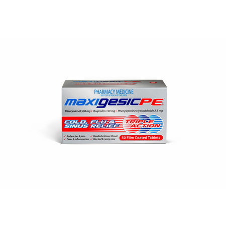 Maxigesic PE Tabs 50s