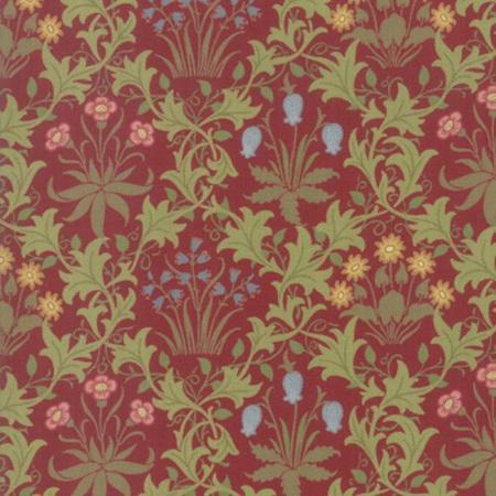 May Morris Studio Celadine Crimson 7341-13