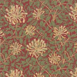 May Morris Studio Honeysuckle Crimson 7347-14