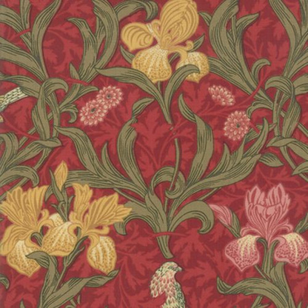May Morris Studio Iris Crimson 7340-13