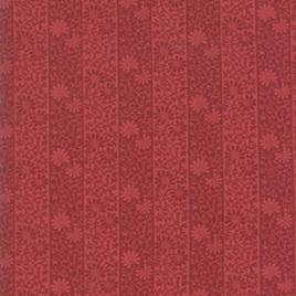 May Morris Studio Stripe Twill Crimson 7343-15