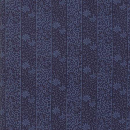 May Morris Studio Stripe Twill Indigo 7343-21