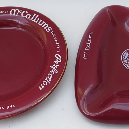 McCallums Whisky ashtrays