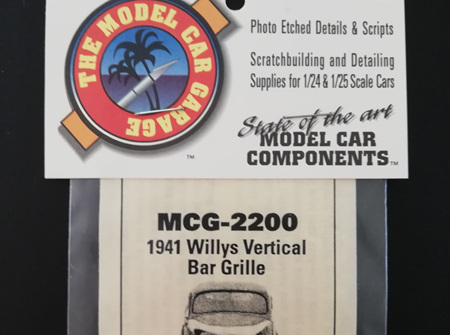 MCG 1/24-1/25 1941 Willys Vertical Bar Grille (MCG-2200)
