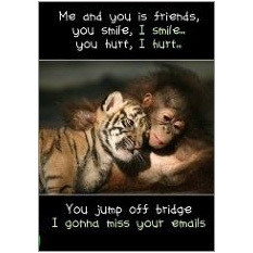 Me and You Fridge Magnet