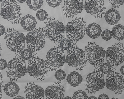 Medallion Mystery Colouring-In fabric