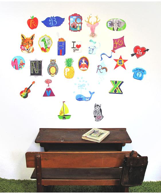 Medium alphabet wall decal