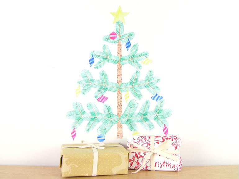 Medium Christmas tree wall decal