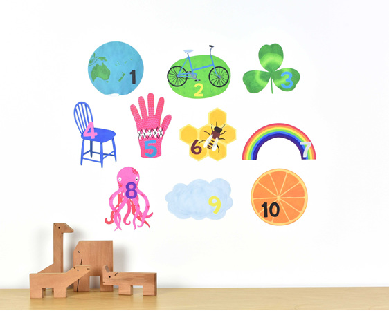 Medium counting numbers wall decal