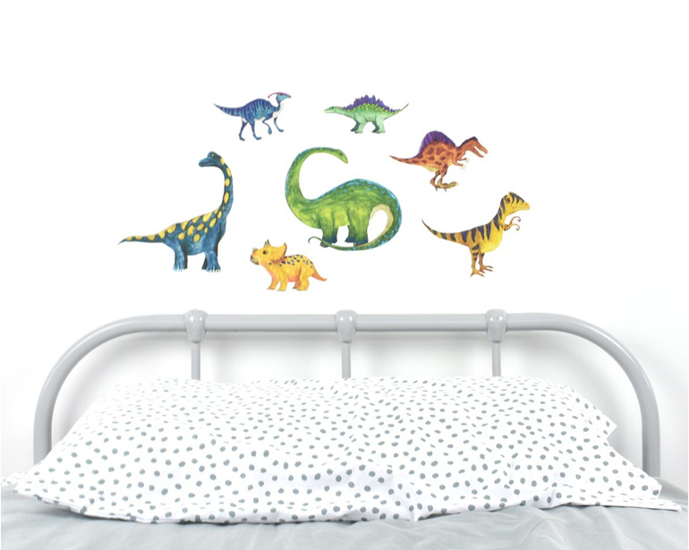 Medium dinosaurs wall decal