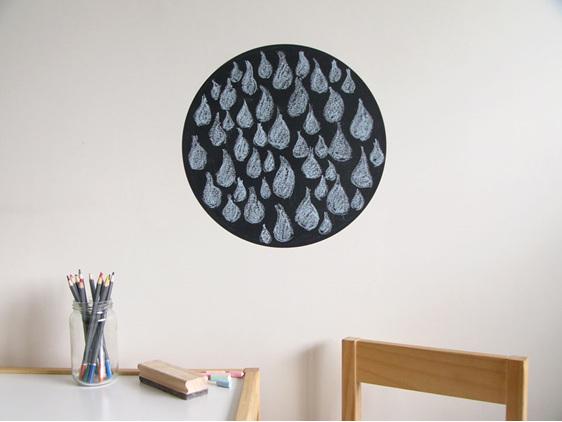 Medium dot chalkboard wall decal