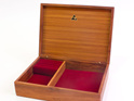 medium jewellery box burgundy