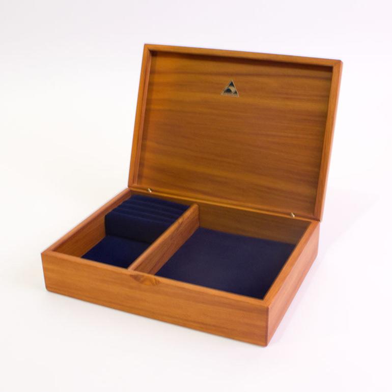 medium jewellery box navy