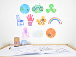 Medium-large counting numbers wall decal