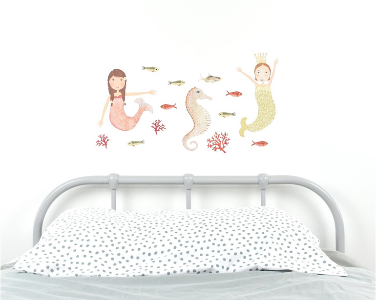 Medium mermaid wall decal