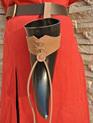 Medium Sized Leather Belt Holder for Drinking Horns