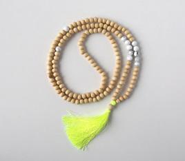 Medium Stone Tassel Necklace